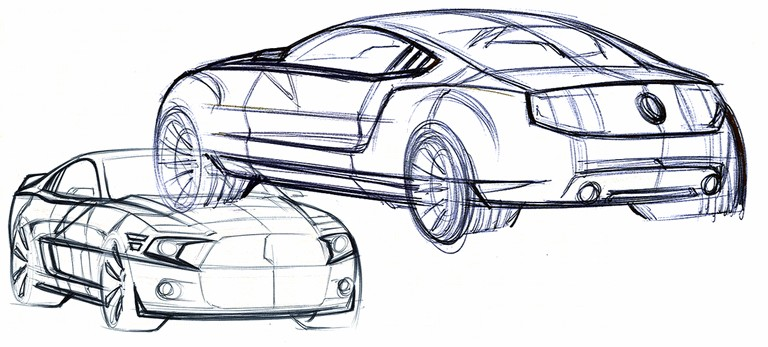 2010 Ford Mustang Shelby GT500 - sketches 248876