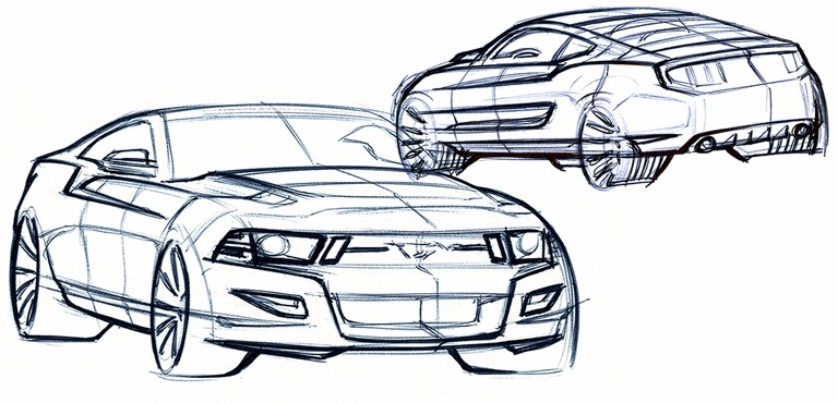 2010 Ford Mustang Shelby GT500 - sketches 248877