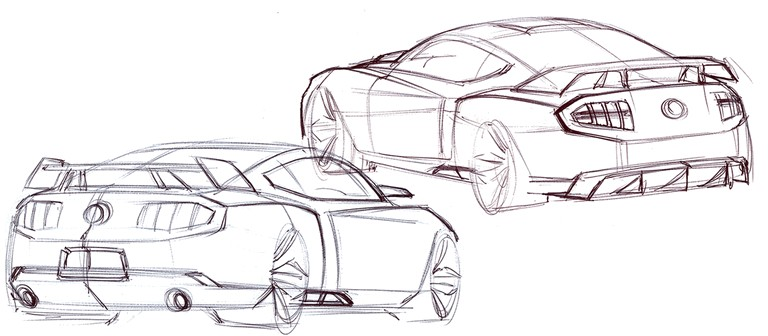 2010 Ford Mustang Shelby GT500 - sketches 248880