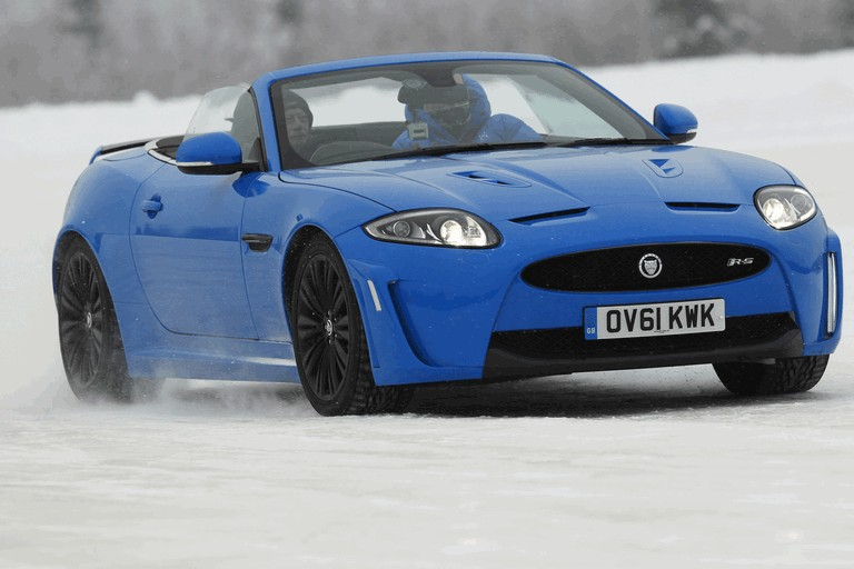 2012 Jaguar XKR-S Convertible on Ice Drives in Finland 332028