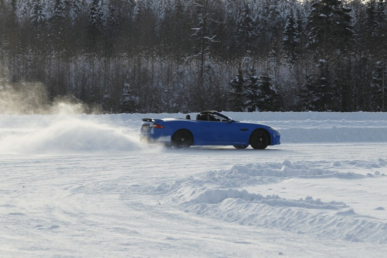 2012 Jaguar XKR-S Convertible on Ice Drives in Finland 332032
