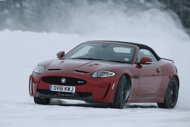 2012 Jaguar XKR-S Convertible on Ice Drives in Finland 332035