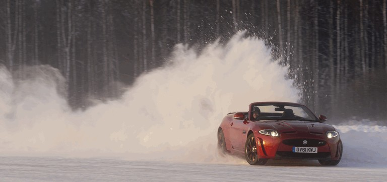 2012 Jaguar XKR-S Convertible on Ice Drives in Finland 332040